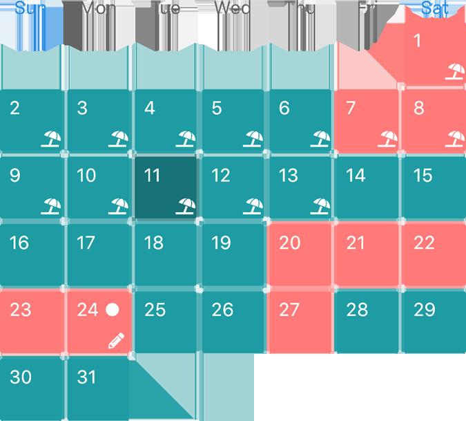 Our Days Calendar View